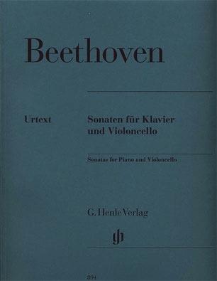 HAL LEONARD Beethoven (Geringas): Complete Sonatas - URTEXT (cello & piano) Henle Verlag