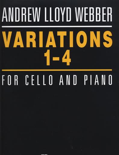 HAL LEONARD Lloyd Weber, Andrew: Variations 1-4 (cello & piano)