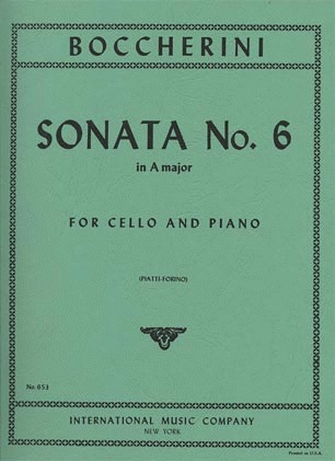 International Music Company Boccherini (Piatti/Forino): Sonata No.6 in A Major (cello & piano) IMC
