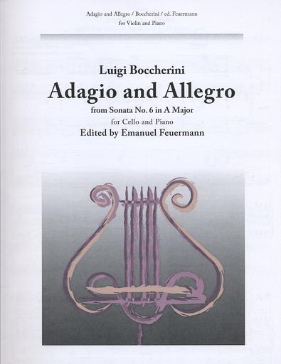 Carl Fischer Boccherini, Luigi: (Feuermann) Adagio & Allegro from Sonata No. 6 in A Major (cello & piano)