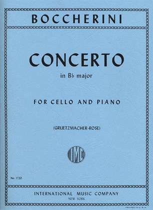 International Music Company Boccherini, Luigi (Rose): Concerto in Bb (cello & piano) IMC