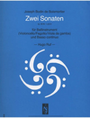 Boismortier, Joseph Bodin de: Two Cello Sonatas Op.26 No.1 & 2 (cello & piano)