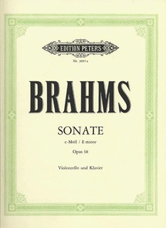 C.F. Peters Brahms, Johannes (Klengel): Sonata No.1 Op.38 in E minor (cello & piano)
