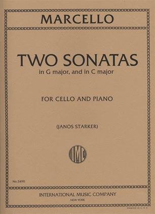 International Music Company Marcello, Benedetto (Starker): 2 Sonatas #1 in G and C (cello & piano)