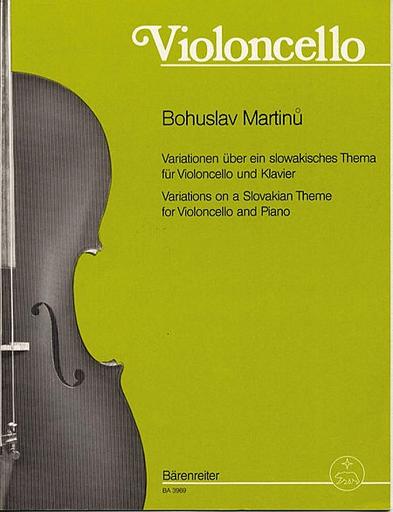 Barenreiter Martinu, Bohuslav: Variations on a Slovakian Theme for Violoncello and Piano, Barenreiter