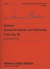 Carl Fischer Brahms, Johannes: Sonata No.2 Op.99 in F Urtext (cello & piano)