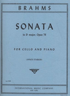 International Music Company Brahms, Johannes (Starker): Sonata Op.78 in D major (cello & piano)