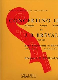 Edition Delrieu Breval, J.B.: Concertino No.2 in C Major (cello & piano)