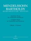 Barenreiter Mendelssohn, Felix (Todd): Complete Works for Violoncello and Piano (2 volumes) Barenreiter
