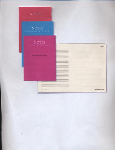 Barenreiter Musician's Choice - Small Manuscript Notebook, 4'' x 6'', 32 pages, Barenreiter