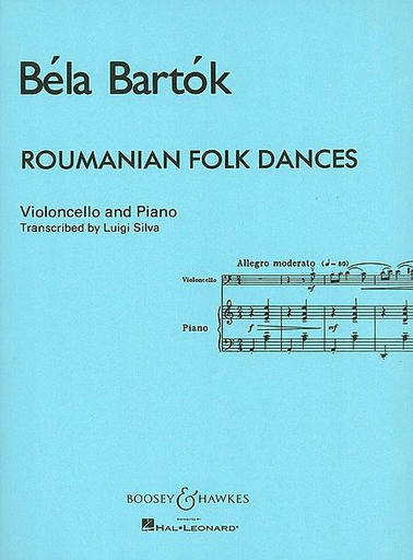 HAL LEONARD Bartok, B.: Roumanian Folk Dances (cello & piano)