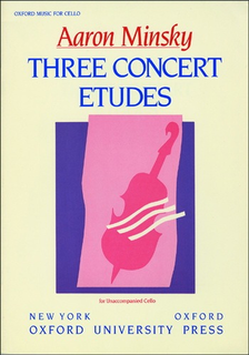 Oxford University Press *out of print* Minsky: 3 Concert Etudes (cello solo)
