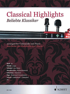 HAL LEONARD Mitchell (editor): Classical Highlights arranged for cello and piano