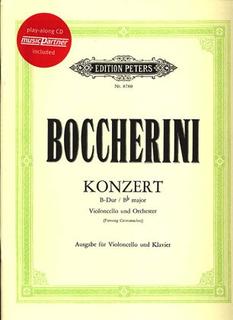 Boccherini (Grutzmacher): Cello Concerto in Bb Major (cello & piano)(CD)