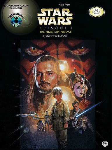 Alfred Music *OUT OF PRINT* Williams, John: Star Wars Phantom Menace Episode 1 (violin & piano or CD)