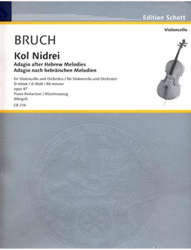 HAL LEONARD Bruch, Max (Klengel): Kol Nidrei Op.47 (Cello & Piano)