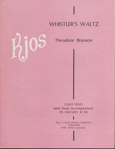 Brunson, Theodore: Whistler's Waltz (cello & piano)
