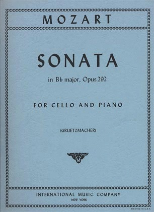 International Music Company Mozart, W.A.: Sonata in Bb Major K.292 (cello & piano)