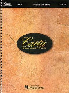 HAL LEONARD Carta Basic Manuscript Paper No.9 - 12 Stave