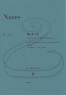 HAL LEONARD Henle Jotter for Music and Notes - 8 Stave