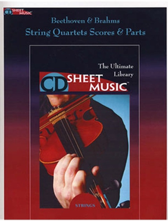 HAL LEONARD CD Sheet Music: Beethoven and Brahms Quartets and Quintets (score and parts on CD ROM)