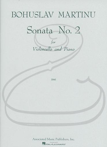 HAL LEONARD Martinu: Sonata No.2 (cello & piano) Associated Music Publishers