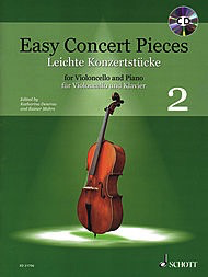 HAL LEONARD Deserno & Mohrs: Easy Concert Pieces for Violoncello and Piano 2 (cello & piano with CD)