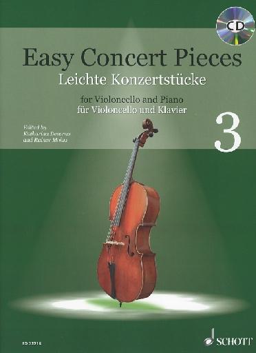 HAL LEONARD Deserno & Mohrs: Easy Concert Pieces for Violoncello and Piano 3 (cello & piano with CD)