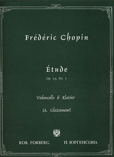 C.F. Peters Chopin, Frederic (Glazunov): Etude Op.25 No.7 (cello & piano)