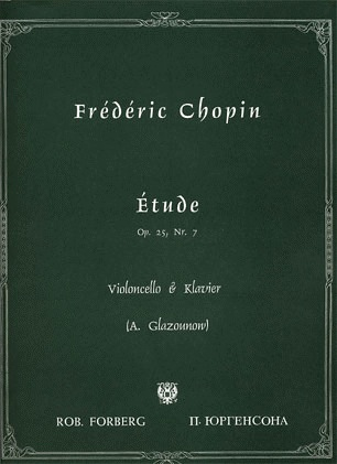 C.F. Peters Chopin, Frederic (Glazunov): Etude Op.25 No.7 (cello & piano)