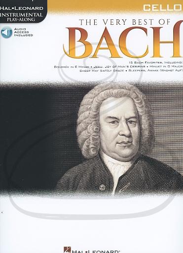 HAL LEONARD Hal Leonard Instrumental Play-Along: The Very Best of Bach (cello)(audio access) Hal Leonard