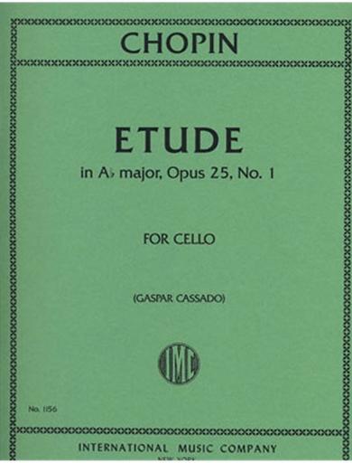International Music Company Chopin, F (Cassado) *POD*: Etude in Ab major, Op. 25 #1 (cello solo)