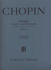 HAL LEONARD Chopin, F. (Zimmermann, ed.): Cello Sonata, Op.65, urtext (cello & piano)