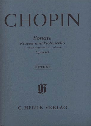 HAL LEONARD Chopin, F. (Zimmermann, ed.): Cello Sonata, Op.65, urtext (cello & piano)