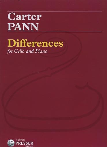 Carl Fischer Pann: (score/parts) Differences (cello & piano) Theodore Presser