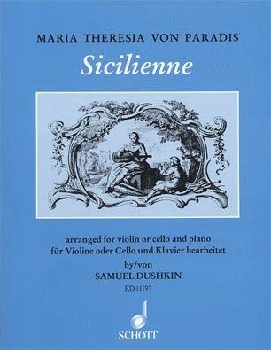 HAL LEONARD Paradis, Maria Theresa von: Sicilienne (cello or violin & piano)