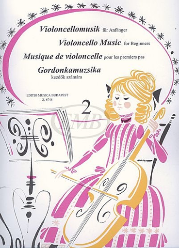 HAL LEONARD Pejtsik: Violoncello Music for Beginners Vol.2 (cello & piano), Edito Musica Budapest
