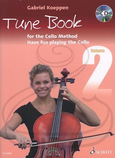 HAL LEONARD Koeppen: Tune Book for the Cello Method, Vol.2 (1-3 cellos w/ piano ad lib.)(CD)