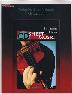 HAL LEONARD CD Sheet Music: Methods and Studies (violin on CD ROM)