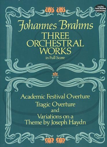 Dover Publications Brahms: (Dover score) 3 Orchestral Works (full orchestra) Dover Publications
