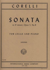 International Music Company Corelli (Lindner): Sonata in D minor Op.5, No.8 (cello & piano)