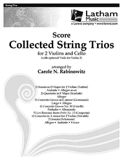 Rabinowitz, C.: SCORE Collected String Trios (violin, Viola or violin & cello)