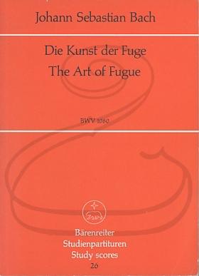 """Barenreiter Bach, J.S. (Diener): (score) The Art of the Fugue - """"Die Kunst der Fuge'' (string quartet) Barenreiter"""
