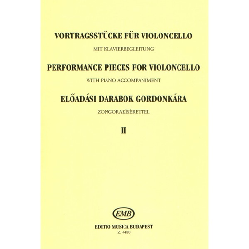 HAL LEONARD Csath, E.: Performance Pieces for Violoncello, Volume 1 (cello & piano)