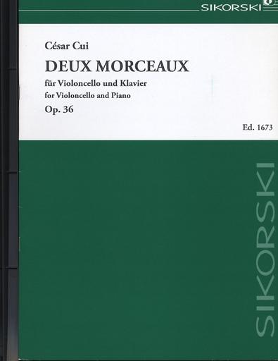 HAL LEONARD Cui, Cesar: Deux Morceaux, Op. 36 (cello & piano)