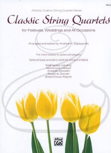 Alfred Music Dabczynski: (collection) Classic String Quartets for Festivals, Weddings, and All Occasions - ARRANGED (cello) Alfred Music