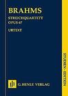 HAL LEONARD Brahms, J. (Reiser, ed.): String Quartet in Bb Major, Op. 67, urtext (score)