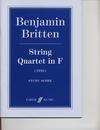 Alfred Music Britten, B.: (Score) String Quartet in F (1928) (string quartet)