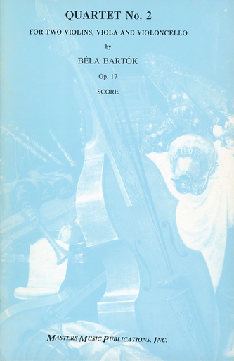LudwigMasters Bart'àö'â•k, B.: (Score) String Quartet No.2, Op.17 (string quartet)