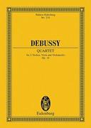 HAL LEONARD Debussy, Claude: STUDY SCORE String Quartet Op.10 (score only-no parts)
